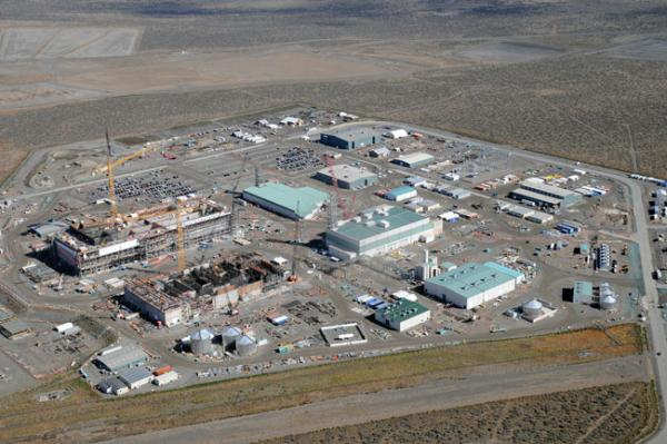 The Hanford Waste Treatment and Immobilization Plant or vit plant, located on the U.S. Department of Energy's Hanford site is a 65-acre complex. Photo courtesy of Bechtel National, Inc.