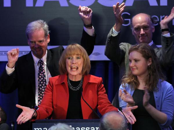Maggie Hassan was elected governor of New Hampshire on Tuesday, as the state also voted in the first all-female congressional delegation.
