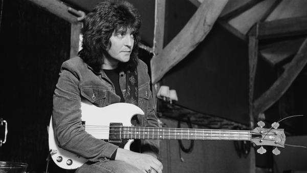 Bob Daisley recording Ozzy Osbourne's <em>Blizzard of Ozz</em> in 1980.