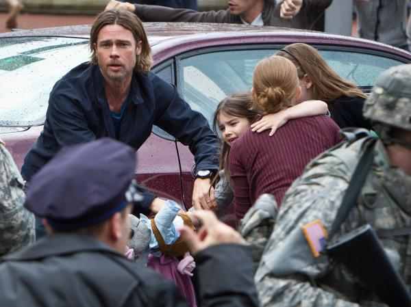 Brad Pitt in <em>World War Z</em>.