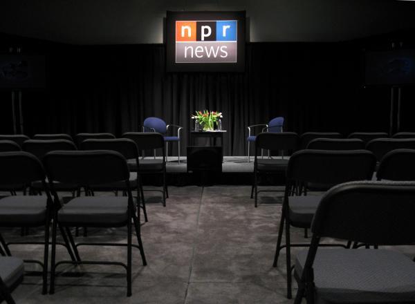 Studio A, where NPR Correspondent Ina Jaffe (who calls NPR West home) recently hosted a pre-election event.