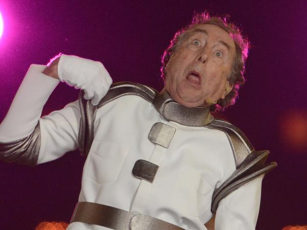 British comedian Eric Idle performs during the closing ceremony of the 2012 London Olympic Games in August.