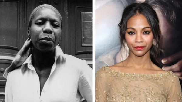 Nina Simone (left) and actress Zoe Saldana are seen in this composite image. Saldana has been cast to play the late singer in a film biopic.