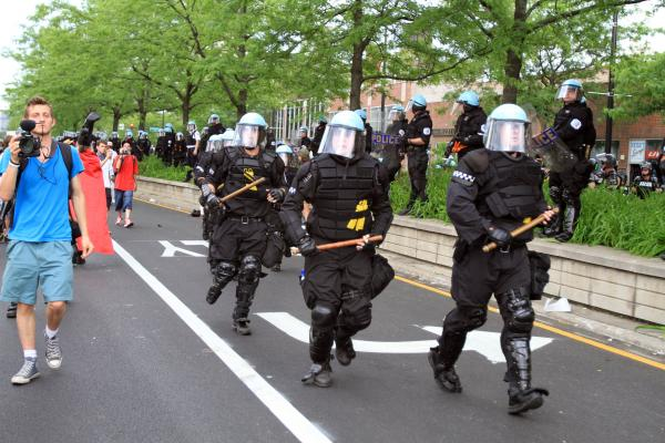 Chicago police move in during protests against the NATO summit in May.