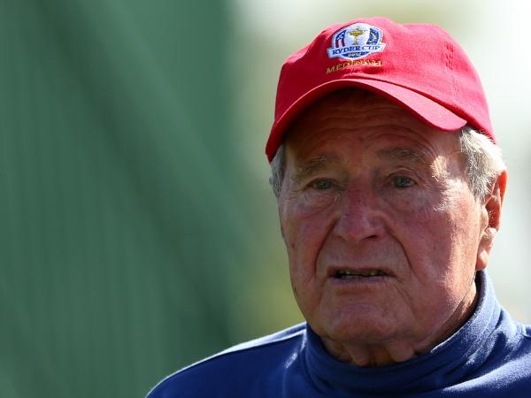Former President George H.W. Bush in September at the Ryder Cup golf match in Medinah, Ill.