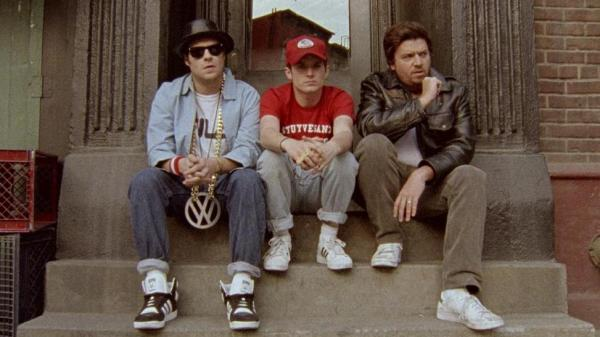 Big movie stars Seth Rogen, Elijah Wood and Danny McBride in the new Beastie Boys video.