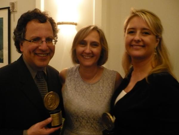 NPR's Joseph Shapiro, Susanne Reber and Laura Sullivan following the Peabody Award ceremony.