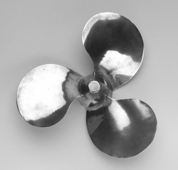 <em>Outboard Propeller</em>, by Aluminum Company of America was also featured in MoMA's 1934 show.