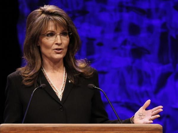 When former vice presidential candidate Sarah Palin addressed attendees at the National Tea Party Convention in Nashville, Tenn., on Feb. 6, 2010, she appeared to have notes written on her left hand.