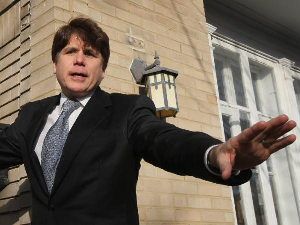 Former Illinois Gov. Rod Blagojevich was sentenced to 14 years in prison on corruption charges, including trying to sell or trade the Senate seat that became vacant when President Obama went to the White House.