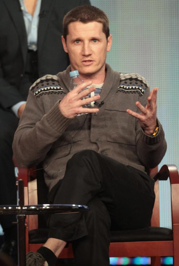 Executive Producer Kyle Killen speaks onstage during the <em>Awake</em> panel during the NBCUniversal portion of the 2012 Winter Television Critics Association Tour on January 6, 2012.