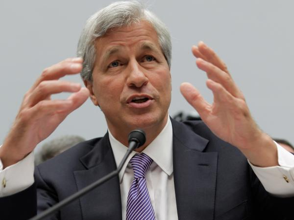JPMorgan Chase CEO Jamie Dimon during testimony today before the House Financial Services Committee.