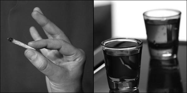 Is marijuana a safer drug than alcohol? Photos by Torben Hansen (L) and Kirti Poddar via Flickr