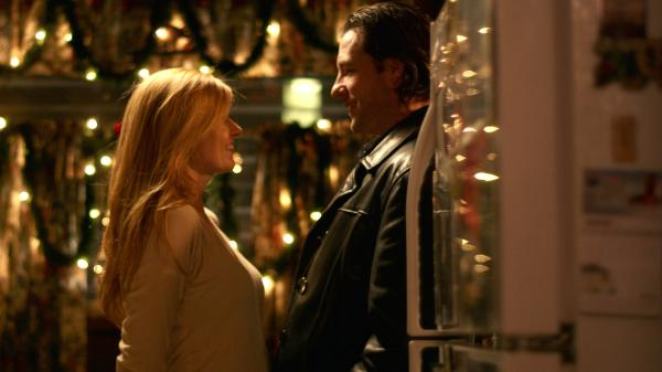 Nora (Connie Britton) and Gerry (Edward Burns) pursue a fledgling romance amid a chaotic holiday homecoming in <em>The Fitzgerald Family Christmas, </em>another home-for-the-awkward-holidays film.