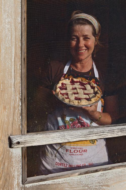 Kathy Knapp of the Pie-O-Neer Cafe