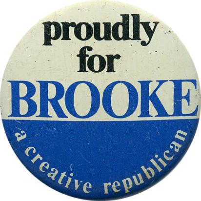 Brooke is the only black Republican in the Senate since Reconstruction.
