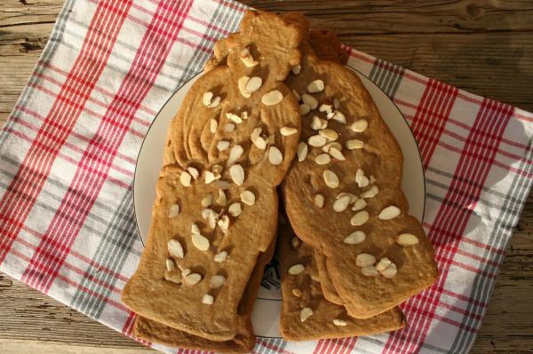 Speculaas Cookies with almonds
