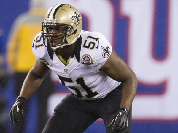 New Orleans Saints linebacker Jonathan Vilma.