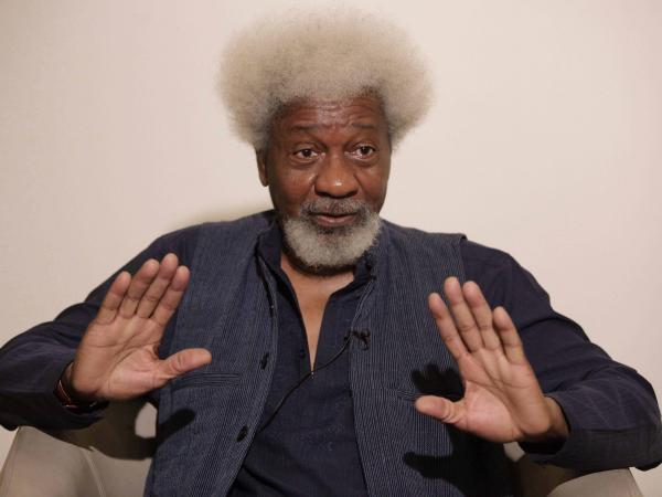 Nobel laureate Wole Soyinka, speaks in Lagos, Nigeria, this year.