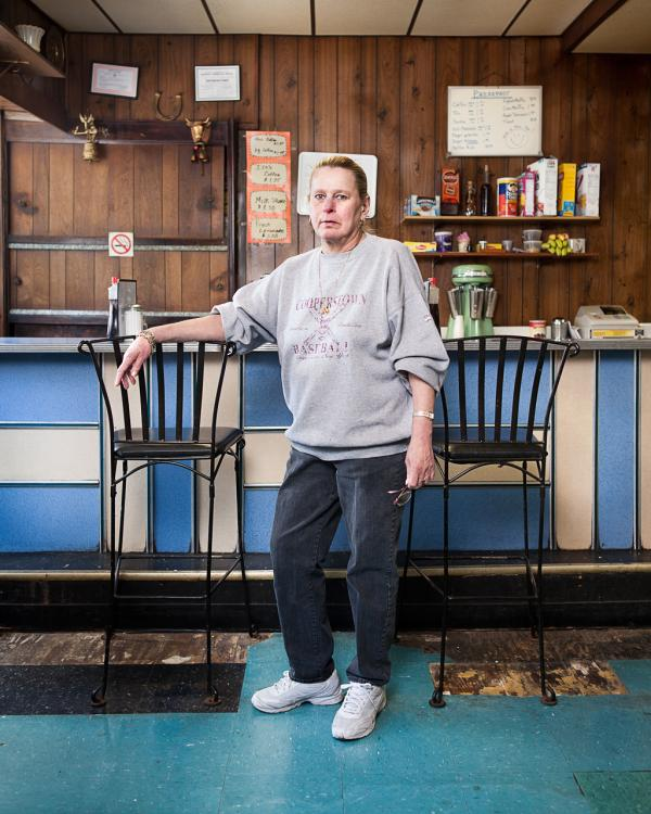 Emma has worked at Chickies Luncheonette for 25 years; it has been closed since Hurricane Sandy.
