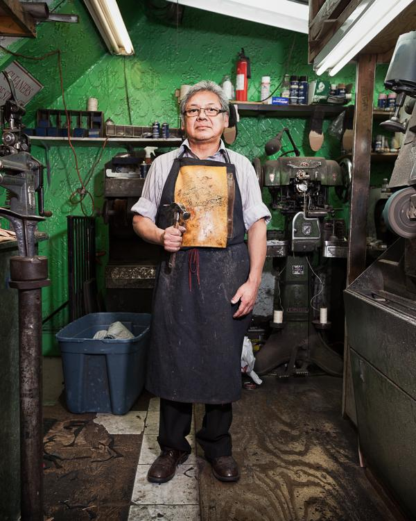 Norberto, cobbler at Giovanni D'Italia Shoe Repair