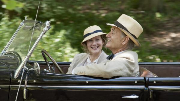 In <em>Hyde Park on Hudson</em>, Laura Linney plays one of President Franklin D. Roosevelt's (Bill Murray) distant cousins — a reserved, self-contained woman with whom he carried on a quiet affair.