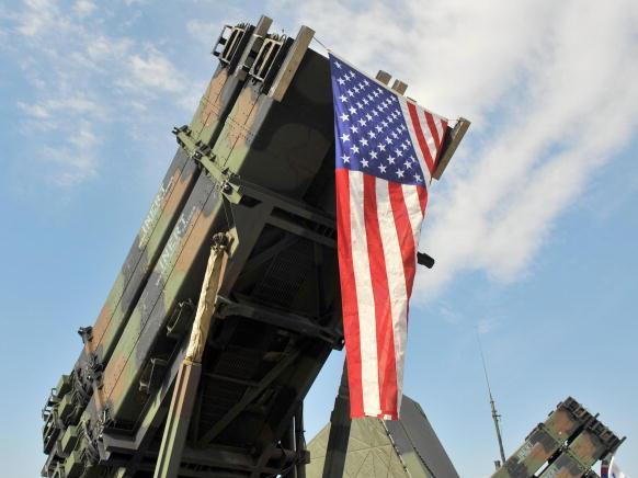 A U.S. Army Patriot Surface-to Air missile system on display in South Korea.