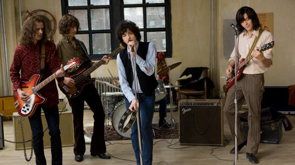 Wells (Will Brill, from left), Joe (Brahm Vaccarella), Douglas (John Magaro) and Eugene (Jack Huston) try to make it big as a rock band in the 1960s.