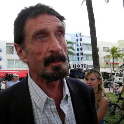 John McAfee in Miami on Thursday.