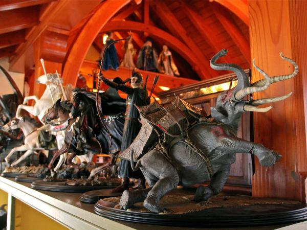Donovan's collection includes hundreds of figurines inspired by Tolkien's stories.
