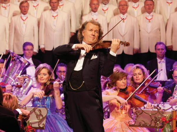 Andre Rieu's latest release is an album and DVD of Christmas music called <em>Home for the Holidays</em>.