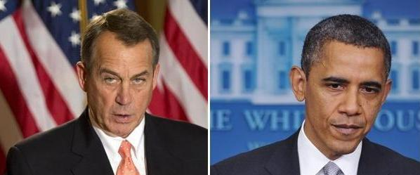 House Speaker John Boehner, R-Ohio, and President Obama. Will they strike a deal?