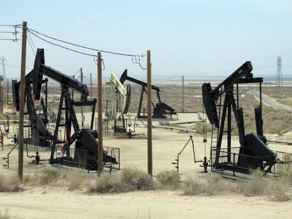 Most hydraulic fracturing in California is done to extract to oil in areas like this field in Kern County. The state is drafting fracking regulations for the first time.