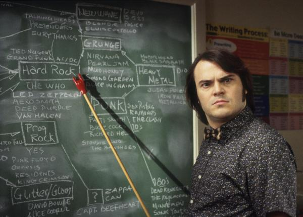 Jack Black in Richard Linklater's <em>School of Rock</em>