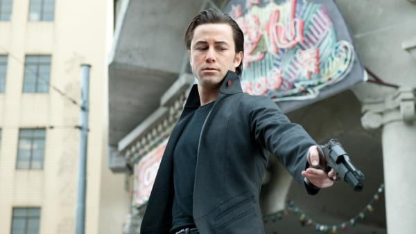Joseph Gordon-Levitt stars in the science-fiction thriller <em>Looper.</em>