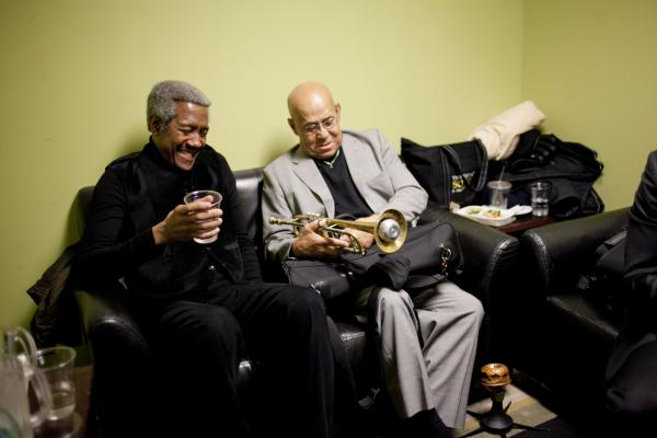 Billy Harper and Eddie Henderson, backstage.