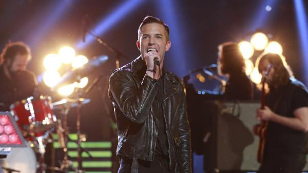 The Killers perform on the season finale of NBC's <em>The Voice</em> last week.