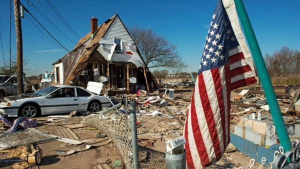 Nov. 6: Some of the damage from Superstorm Sandy on New York's Staten Island.
