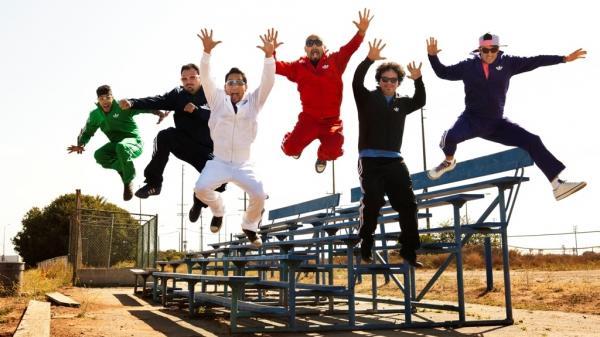 Band members (from left) Justin Poree, Ulises Bella, Jiro Yamaguchi, Raul Pacheco, Asdru Sierra and Wil-Dog Abers.