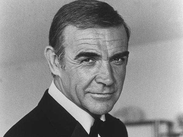 Scottish actor Sean Connery is seen in 1982 during the making of the film <em>Never Say Never Again</em>.