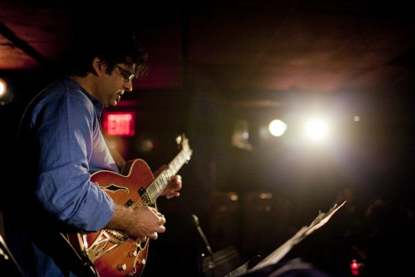 Guitarist Rez Abbasi led a trio at Zinc Bar.