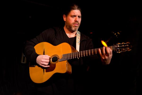 "Acclaimed French-born guitarist and composer Stephane Wrembel has appeared on the soundtracks of Woody Allen's <em>Vicky Cristina Barcelona</em> and <em>Midnight In Paris</em>. He dazzled the globalFEST crowds with his ""Gypsy Jazz"" guitar rhythms."