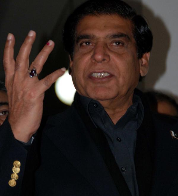 Pakistani Prime Minister Raja Pervaiz Ashraf.