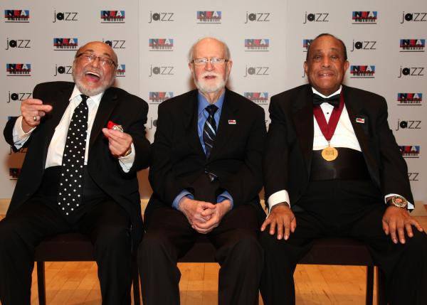 The 2013 NEA Jazz Masters. From left: Eddie Palmieri, Mose Allison, Lou Donaldson. Not pictured: Lorraine Gordon.