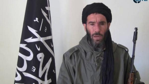 This image from video provided by the SITE Intel Group made available Thursday Jan. 17, 2013, purports to show militant militia leader Mokhtar Belmokhtar. News reports say he may have been responsible for the Western hostages' being taken at a gas plant in Algeria.