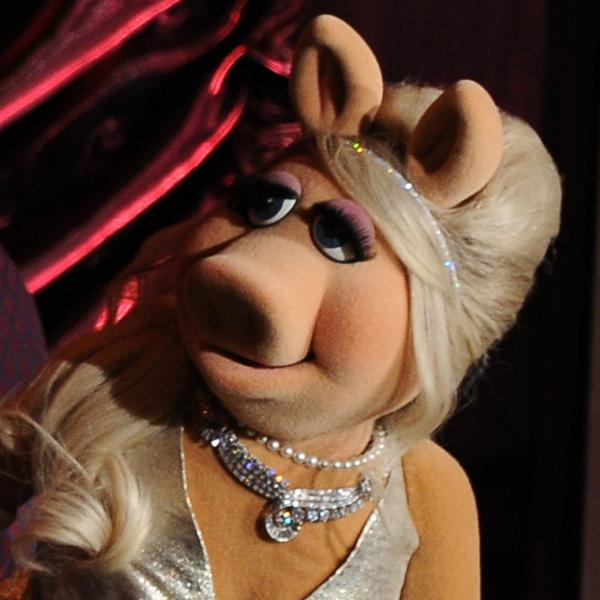 Miss Piggy onstage at the Academy Awards last year.