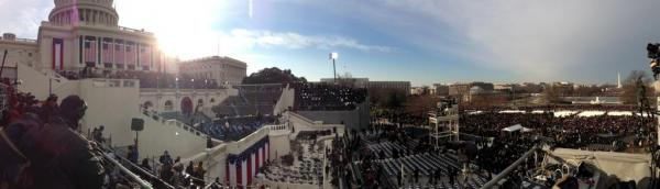 As the sun starting to rise on inauguration morning, <em>Morning Edition</em> Assistant Editor Arnie Seipel posted this panoramic view of the U.S. Capitol on Twitter.
