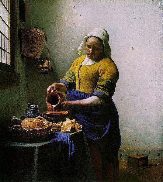<em>The Milkmaid</em> (Johannes Vermeer, circa 1658)