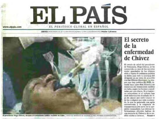 That's not Venezuelan President Hugo Chavez, <em>El Pais</em> later admitted.