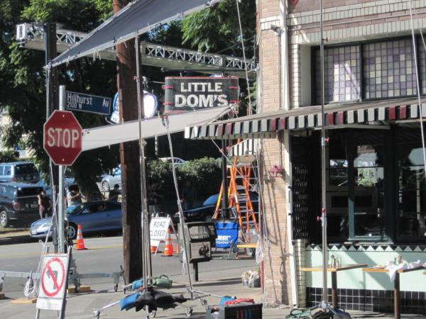 Movie folk — including actor Matt Damon and director Cameron Crowe, who were filming inside — swarmed a corner restaurant in the L.A. neighborhood of Los Feliz in late January. They were working on the movie <em>We Bought a Zoo</em>, based on a true story by Benjamin Mee.
